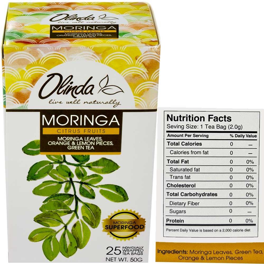 Premium Gift Set Olinda Moringa Oleifera Green Tea