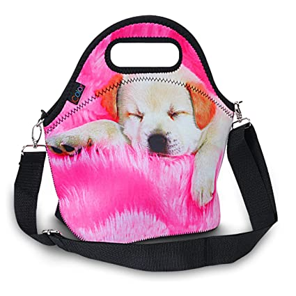 53a8c6577fa8 iColor Insulated Neoprene Large Lunch Bag - Removable Shoulder Strap -  Reusable Thermal Thick Lunch Tote Bags For ...