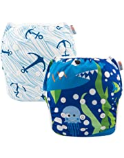 ALVABABY Swim Diaper Reuseable Washable 2pcs Pack Large Size Swim Lession For Boy Gift ZYK25-D26-CA