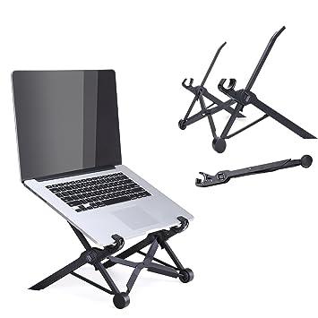 Soporte portátil para portátil plegable y ajustable, soporte para ordenador portátil, ergonómico, ligero