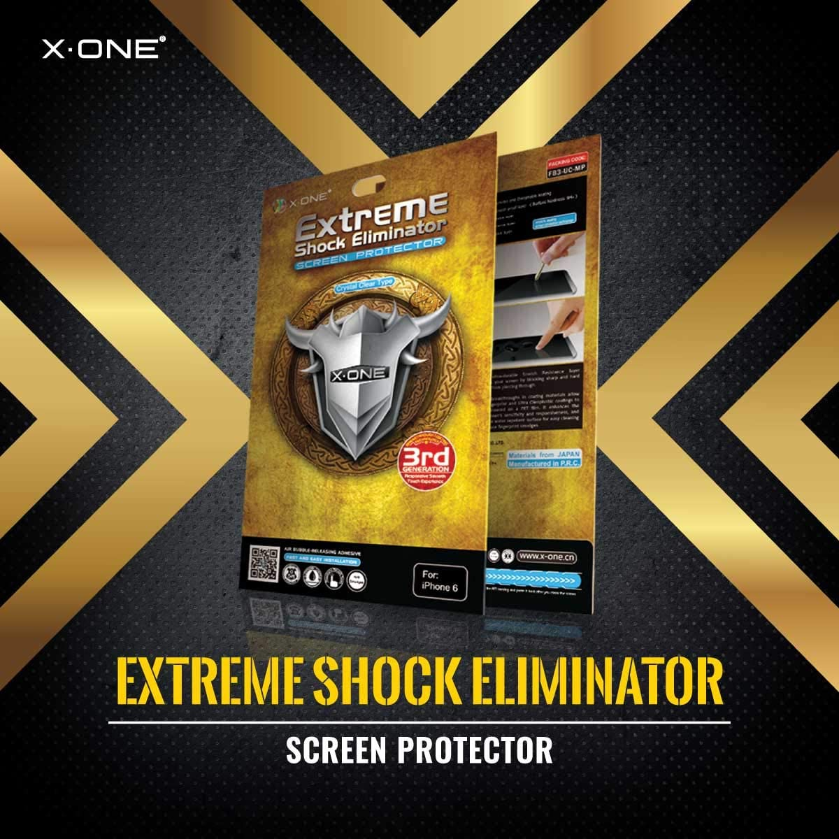 The Worlds Toughest Screen Protector Compatible with iPhone fits iPhone X Xs X/·ONE Extreme Shock Eliminator