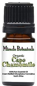 Miracle Botanicals Organic Cape Chamomile Essential Oil - 100% Pure Eriocephalus Punctulatus - Therapeutic Grade - 5ml