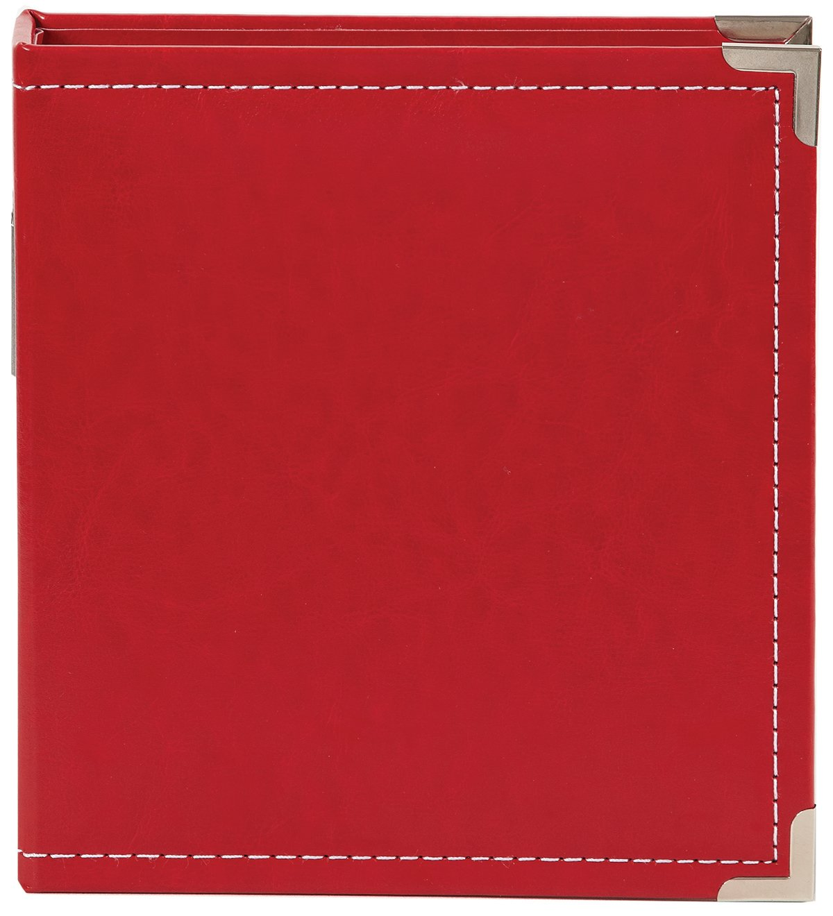 Simple Stories Faux Leather Binder, 6 by 8-Inch, Red