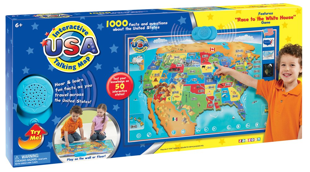 Amazon zanzoon interactive map usa english toys games gumiabroncs Image collections
