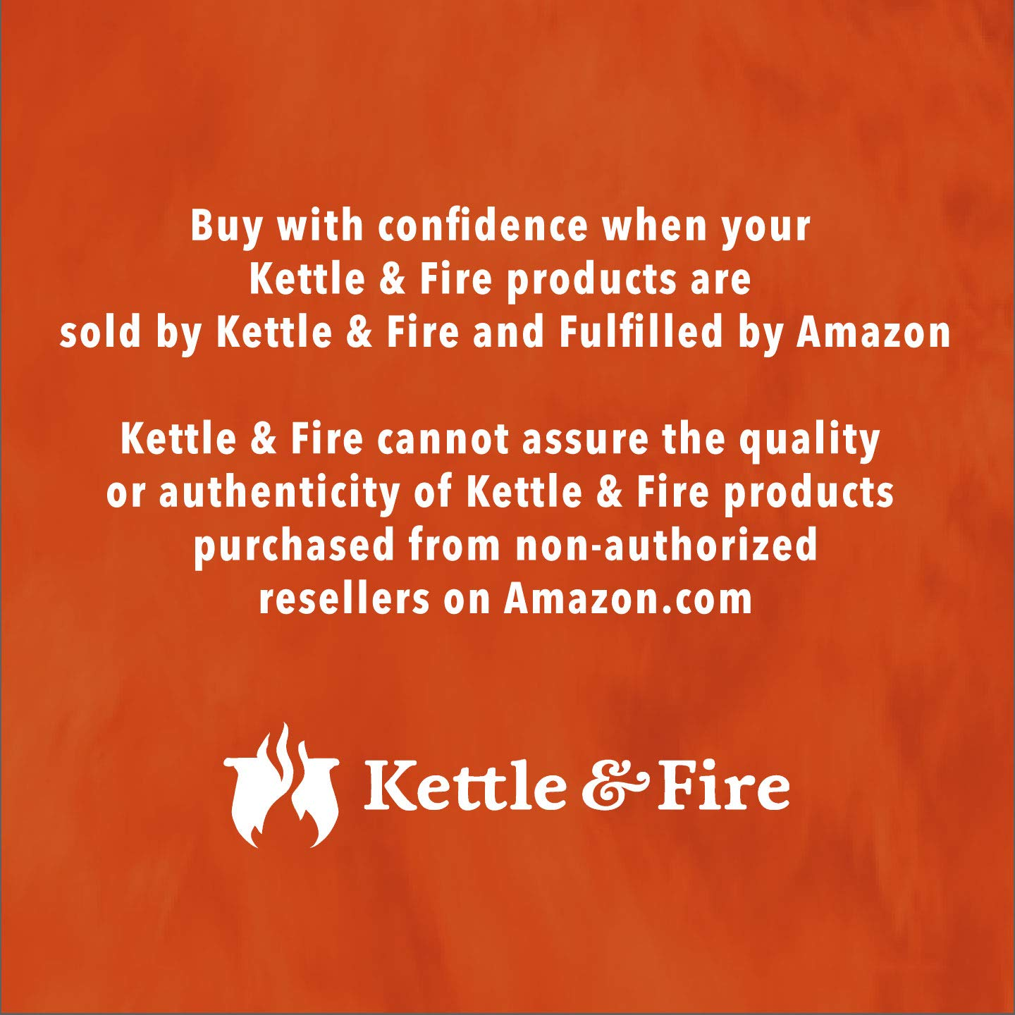 Kettle & Fire Beef Bone Broth Pack of 6 Keto Diet, Paleo Friendly, Whole 30 Approved, Gluten Free, with Collagen, 7g of protein, 16.2 fl oz