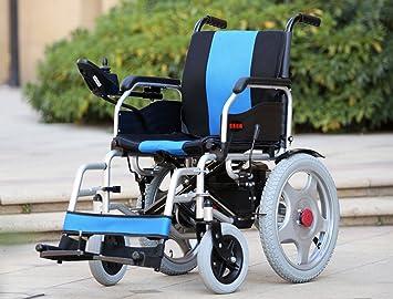 T-silla de ruedas Silla de ruedas eléctrica, discapacitado, scooter antiguo, plegable ligero: Amazon.es: Salud y cuidado personal