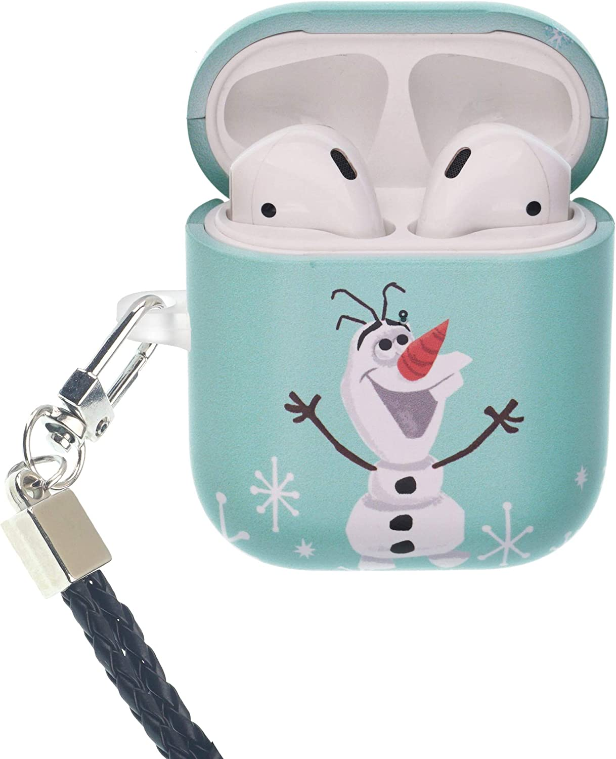 Frozen Compatible with AirPods Case Neck Lanyard Protective Hard PC Shell Strap Hole Cover - Cute Olaf