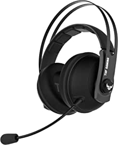 TUF Gaming H7 Wireless gaming headset for PC, Mac and PlayStation® 4 with 2.4GHz wireless connection (Gun Metal)