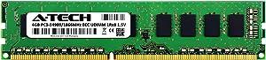 A-Tech 4GB for DELL PowerEdge T20 (1 x 4GB) PC3-14900 (DDR3-1866) ECC Unbuffered UDIMM 240-Pin 1Rx8 1.5V Server Memory RAM