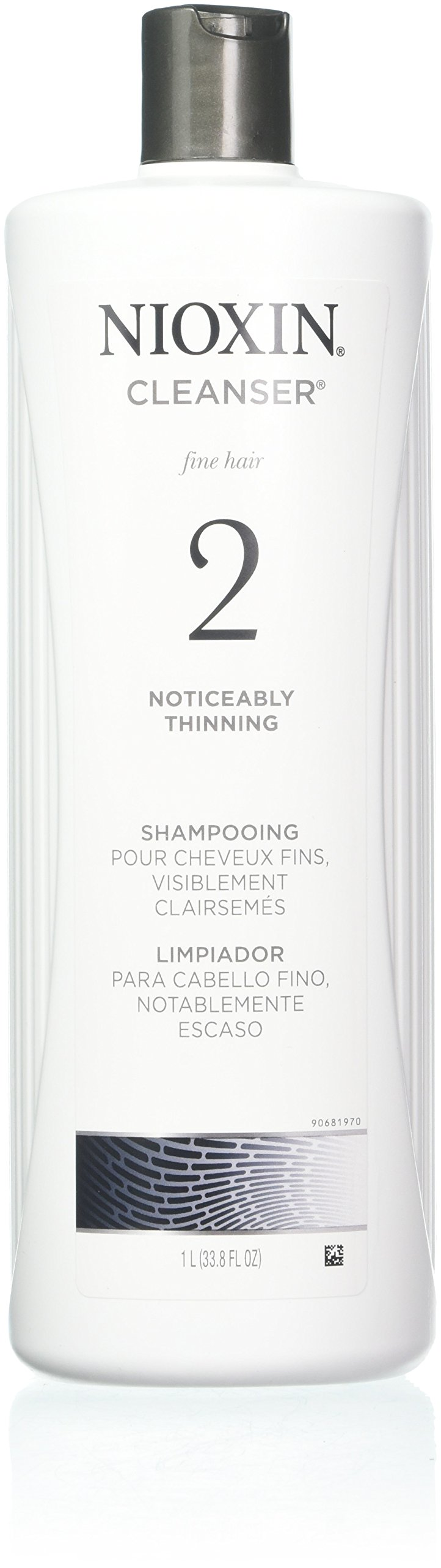 Nioxin Cleanser, System 2 (Fine/Noticeably Thinning )shampooing, 33.8 Ounce by Nioxin