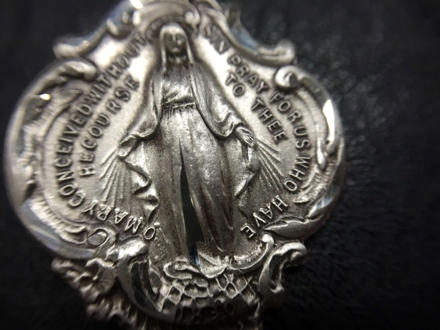 Hail Mary Prayer Sterling Silver Pendant + 24 Inch Sterling Silver Chain with Clasp by Heartland Store (Image #6)