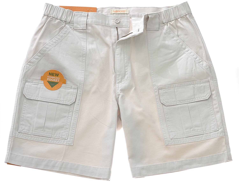 Savane Mens Comfort Hiking Cargo Shorts (34, Stone-16) by Savane