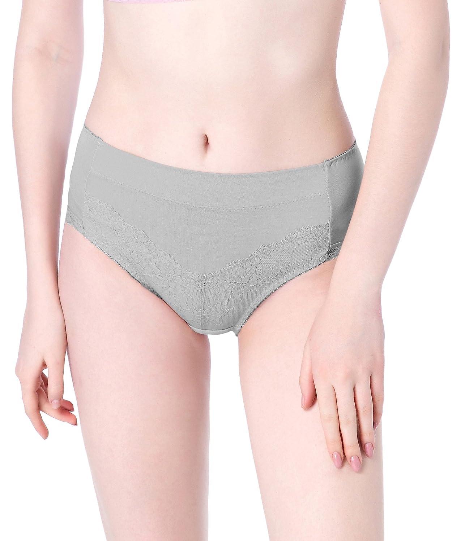 Intimate Portal Damen Komfort Modale Baumwolle Unterw/äsche mit Spitze Taillenslip