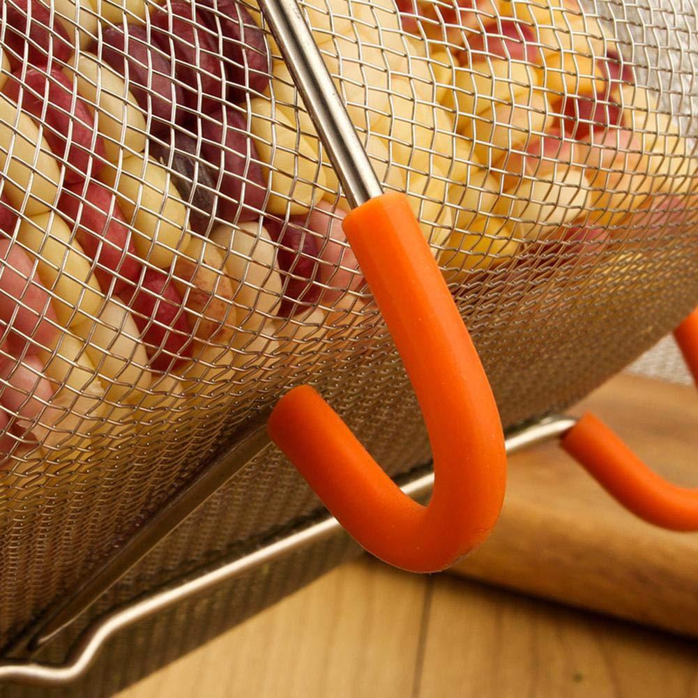 Cesta de Vapor para Verduras Acero Inoxidable, Mango de Silicona Keptfeet