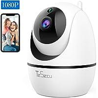 IP Caméra WiFi, Tesecu Cámara de vigilancia Cámara inalámbrica WiFi 1080P, cámara Domo IP para Interiores, visión Nocturna, detección de Movimiento