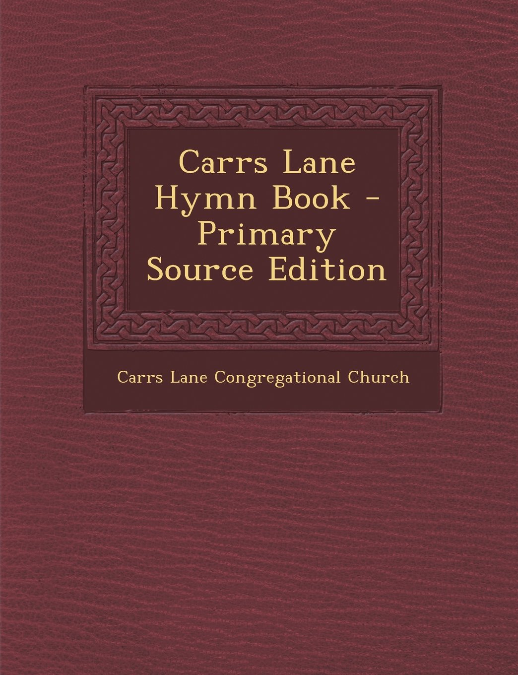 Download Carrs Lane Hymn Book PDF