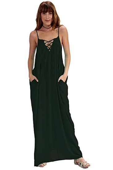 f422148051 ELAN Balloon Bottom Lace Up Maxi at Amazon Women s Clothing store