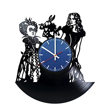 BorschToday Alice in Wonderland Vinyl Record Wall Clock - Get unique living room wall decor -