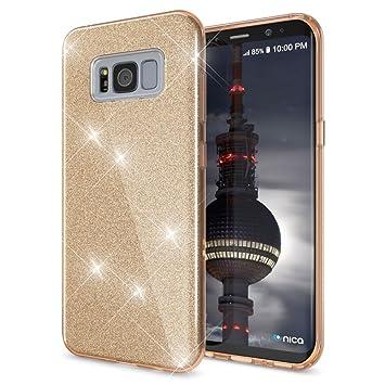 NALIA Purpurina Funda Compatible con Samsung Galaxy S8 Plus, Carcasa Protectora Movil Silicona Ultra-Fina Glitter Bumper Estuche, Lentejuela Cubierta ...
