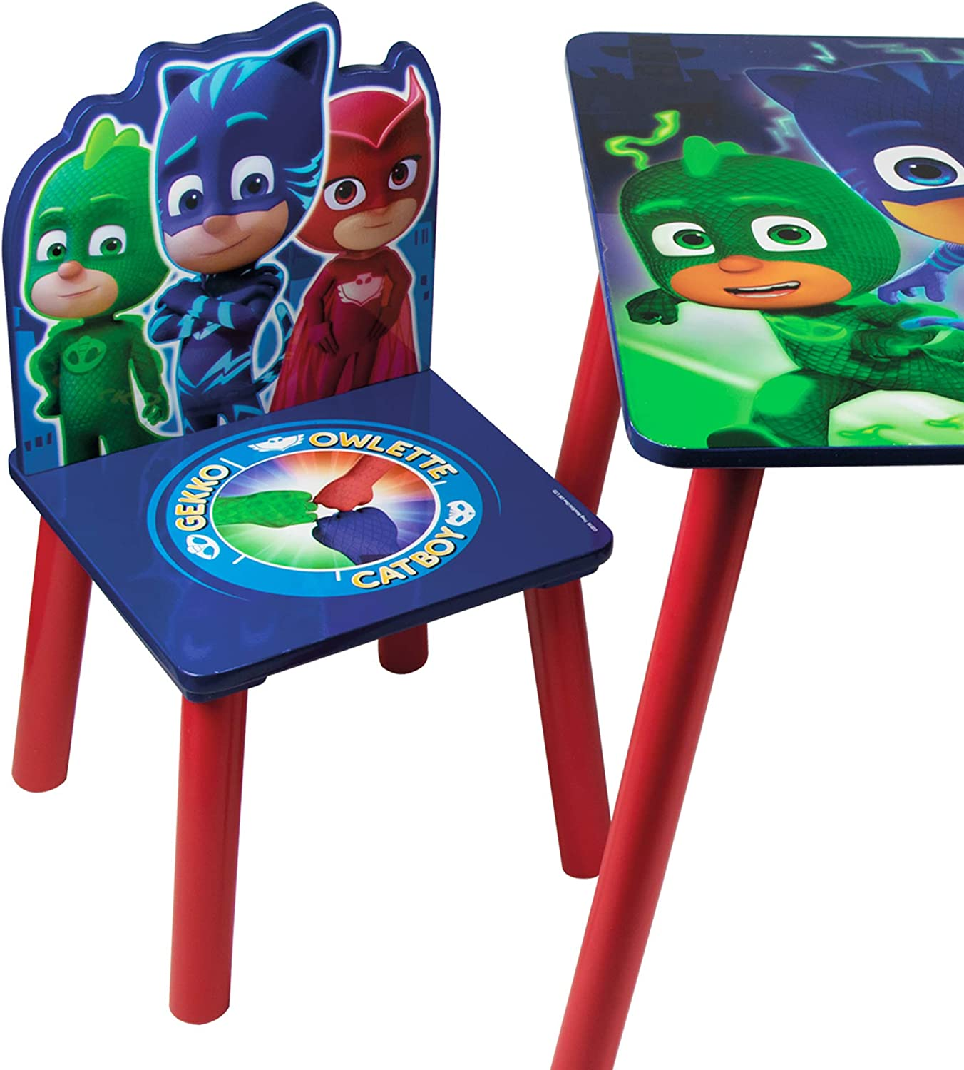 Themed Wooden Kids Table /& Chairs Set