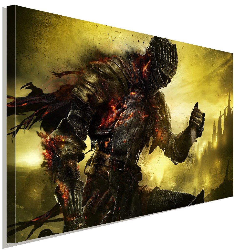 Dark Souls Warrior Battle Leinwandbild LaraArt Studio Wanddeko Wandbild 120 x 80 cm
