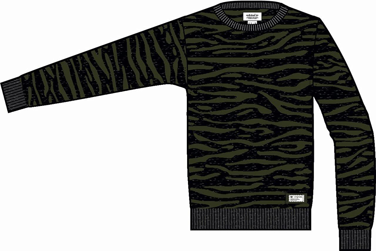 e966fc2e81b1 ADIDAS ORIGINALS TIGER CAMO SWEATER SWEAT SHIRT M64212 (X-Small)   Amazon.co.uk  Clothing