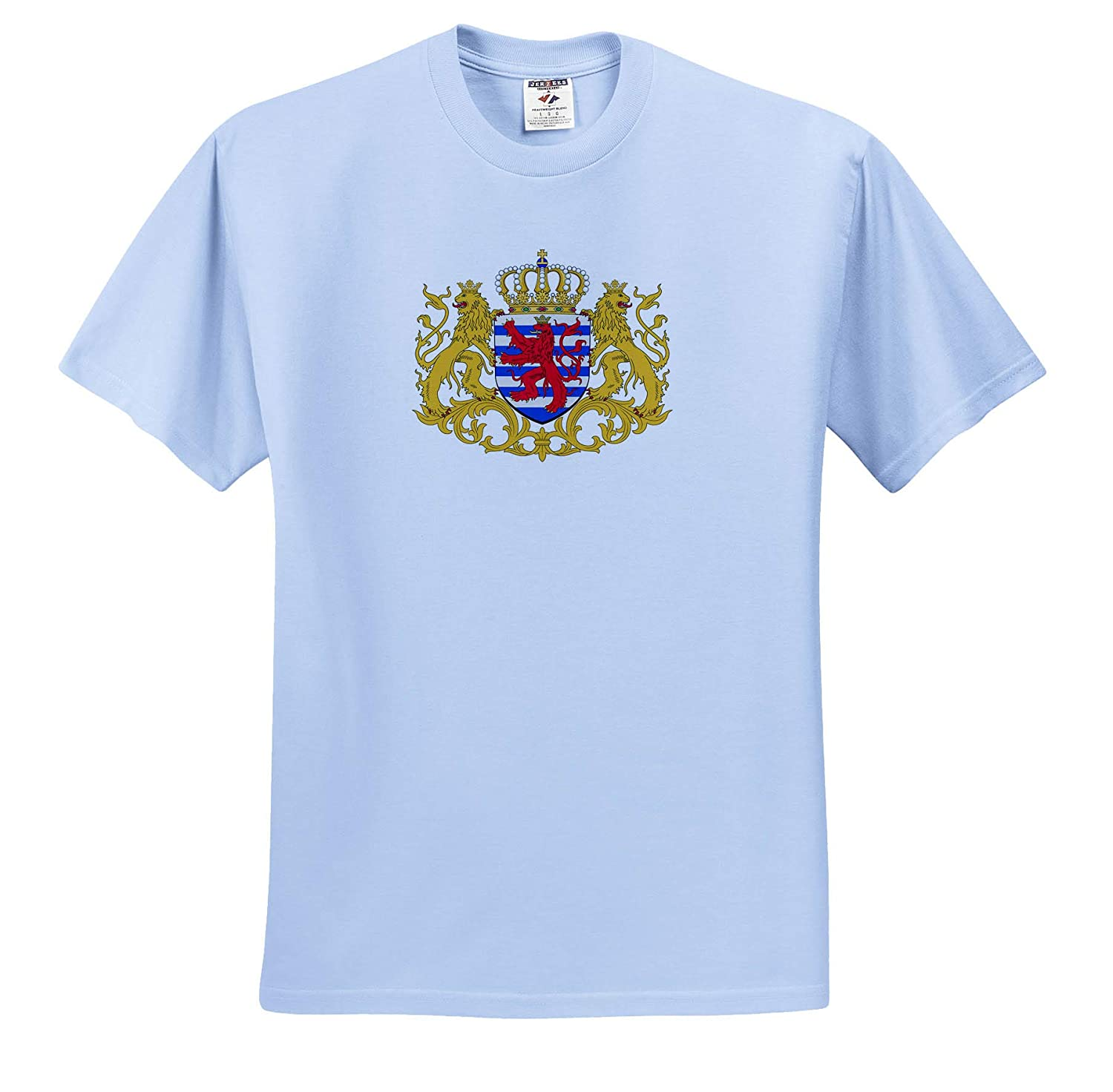 Illustrations Luxembourg Coat of Arms 3dRose Carsten Reisinger T-Shirts