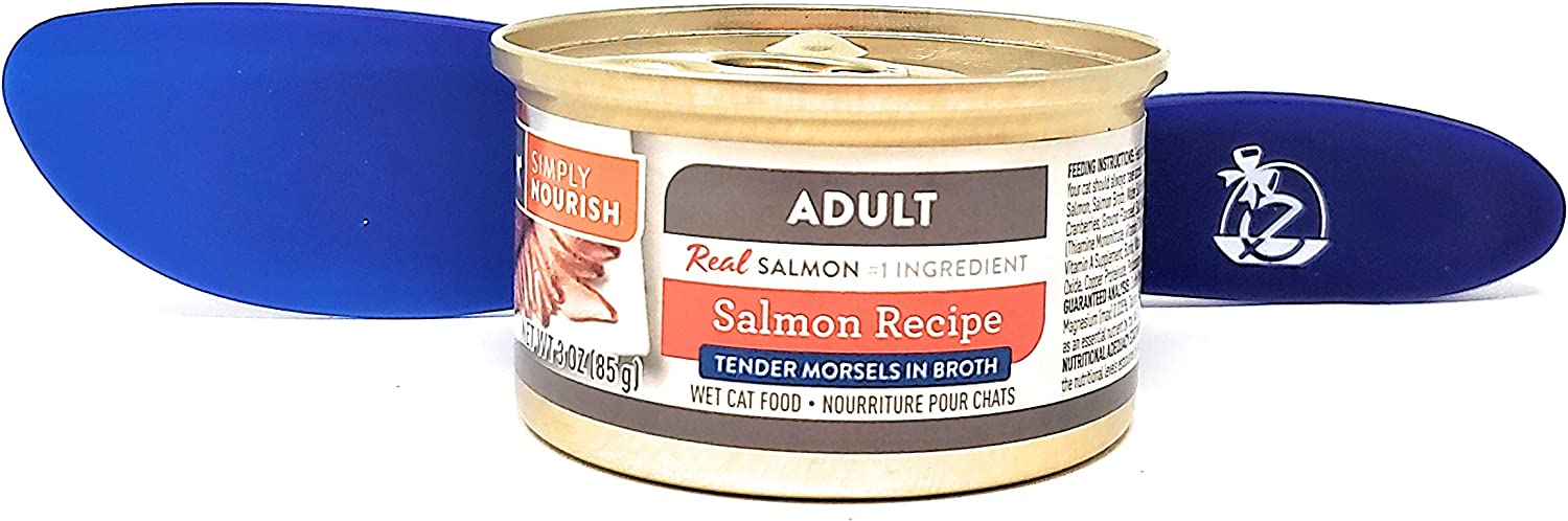 SIMPLY NOURISH Wet Cat Food Adult Salmon Recipe, Tender Morsels 3oz (Pack of 12) and Especiales Cosas Spatula