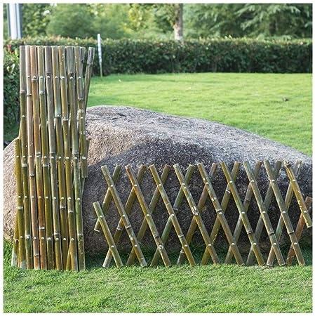 YINUO Cercos Cerca del jardín Postal Pantalla Secundaria Barandilla Plug-in de Madera de la Cerca del jardín de bambú del Anuncio protección Ambiental no se deforma con Facilidad, 4 tamaños: Amazon.es: Hogar
