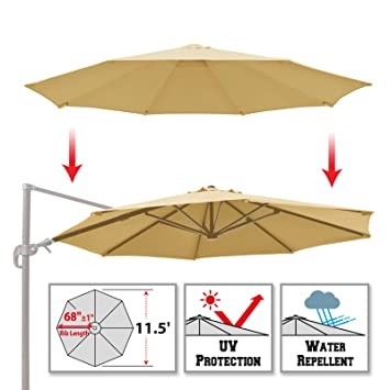 BenefitUSA Replacement Canopy for 11.5u0027 ROME Cantilever Patio Umbrella Parasol Top Cover (Beige)  sc 1 st  Amazon.com & Amazon.com : BenefitUSA Replacement Canopy for 11.5u0027 ROME ...