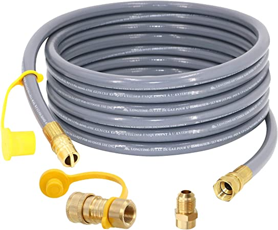 SUMNEW 24 Feet 1/2 inch ID Natural Gas Hose, Quick Connect/Disconnect Fittings with 3/8
