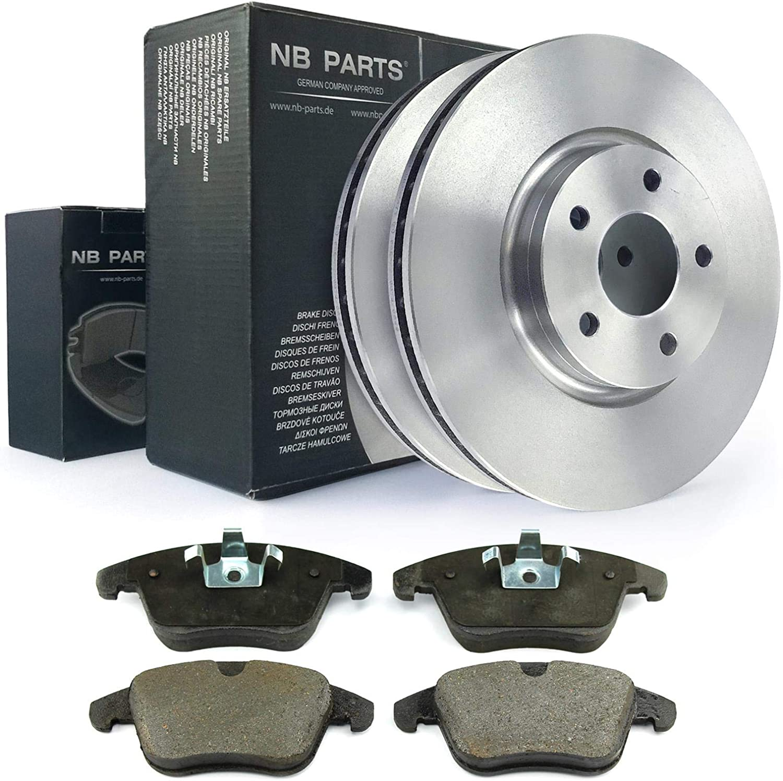 2x Bremsscheiben Bremsbel/äge vorne NB PARTS GERMANY 10070971