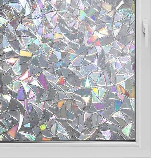 rabbitgoo 3ft x 3d no glue static decorative frosted.htm amazon com 3d window film no glue privacy for glass sticker  amazon com 3d window film no glue