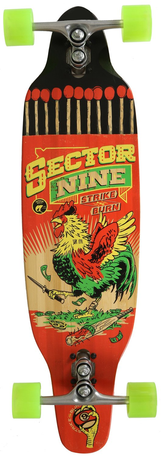 Sector 9 Striker Complete Skateboard, Red
