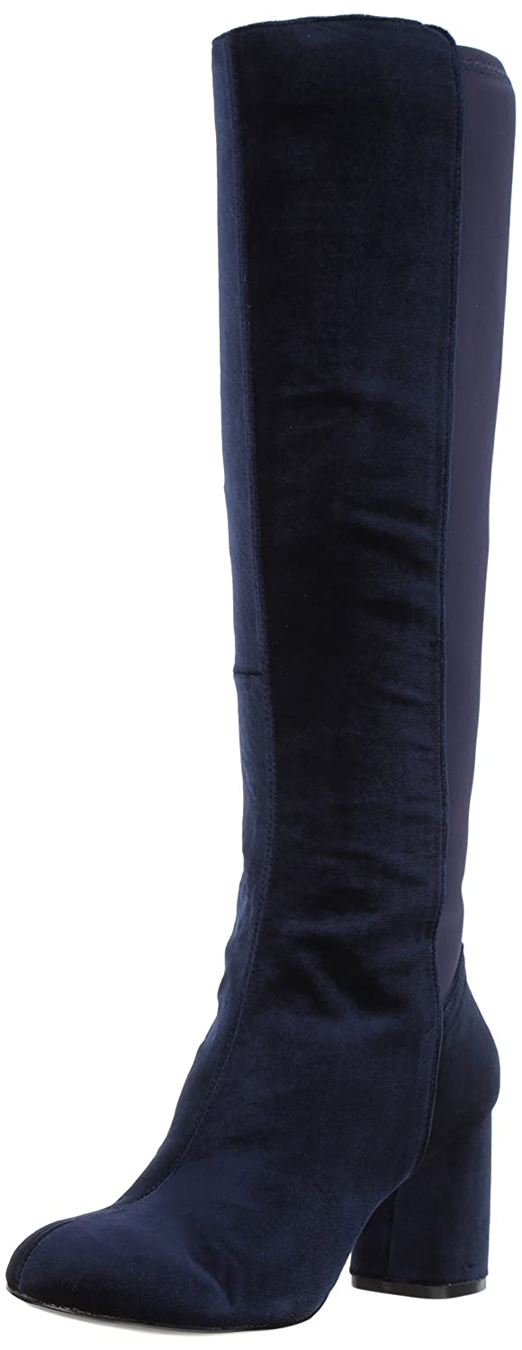 Nine West Women's Knowone Fabric Knee High Boot B071HQD21F 5.5 B(M) US|Navy/Navy Fabric