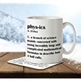 Physics Definition Funny - Mug and Coaster By Inky Penguin
