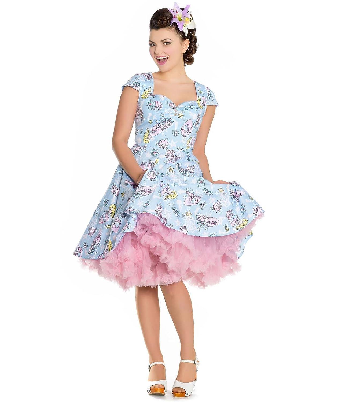 5ac6391866ef8 Hell Bunny Coralia Mermaid 50s Style Dress Blue  Amazon.co.uk  Clothing