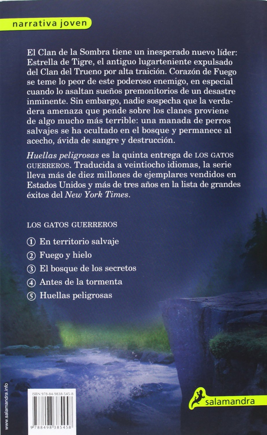 Huellas peligrosas (Gatos: Los cuatro clanes / Warriors) (Spanish Edition) (9788498385458): Erin Hunter, Salamandra: Books