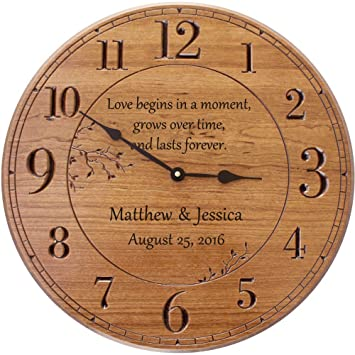 Personalized Wall Clock, 17 In. Wall Clock, Customized For Anniversary Good Ideas