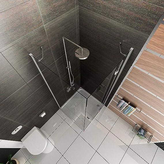Cristal Esquina. cabinas de ducha 90 x 90 x 200 Mampara ESG ...