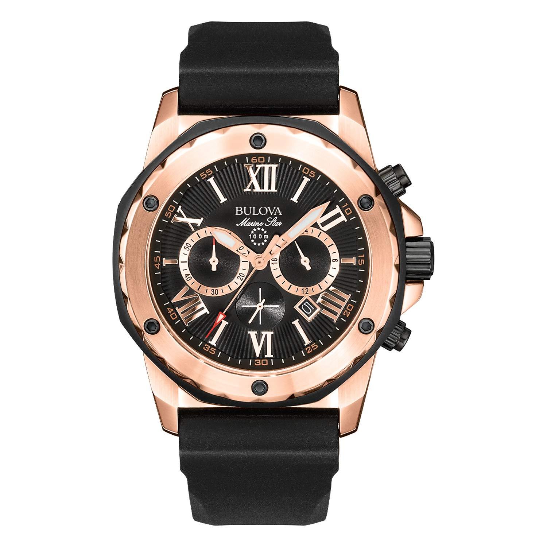 5785c0b1613 Amazon.com  Bulova Men s 98B104 Marine Star Calendar Stainless Steel Dress  Watch  Bulova  Watches