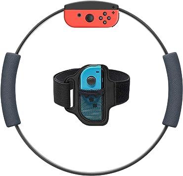 Ring Fit Adventure Leg Strap y 2 Anilla-con Grips para Nintendo Switch (Anillo-Con y Joy-con no incluidos), Ring Fit Adventure Leg Band Sports Strap con Anillo-Con Puños antideslizantes (gris): Amazon.es: Electrónica