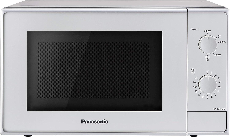 Panasonic NN-E22JMMEPG Horno microondas, 800 W, 20 litros, 46 decibelios, plateado