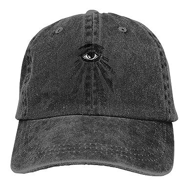 476440eda76 Ginu THE EYE OF HORUS Ra Egyptian Illuminati Baseball Cap For Mens And  Womens at Amazon Men s Clothing store