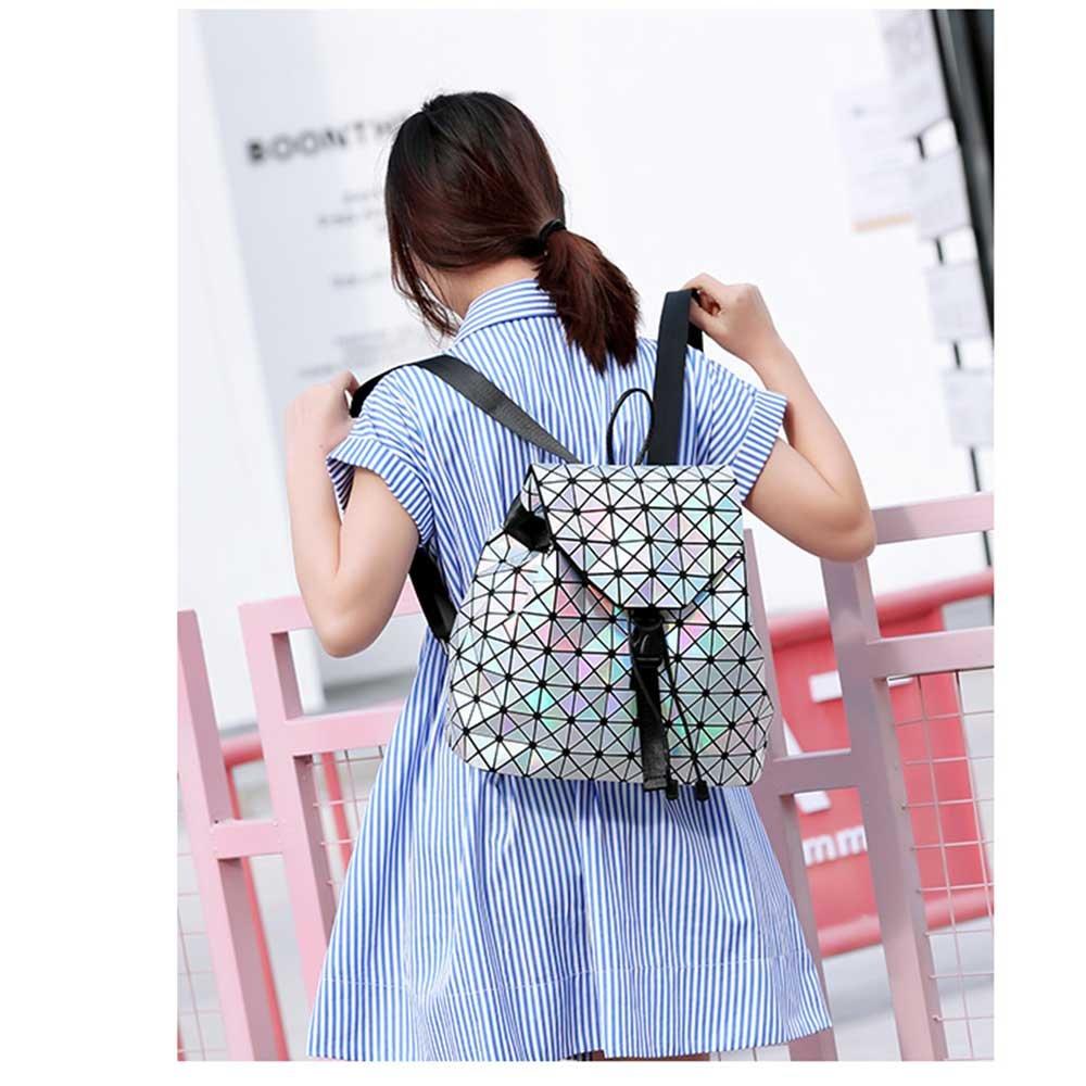 DIOMO Geometric Lingge Laser Women Backpack Travel Shoulder Bag(Laser) by DIOMO (Image #5)