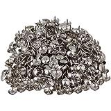 BQLZR 9 x 9 mm Tête en forme de dôme Argenté fer ameublement Nails à tige Tack meubles décoratifs Lot de 200 goupilles