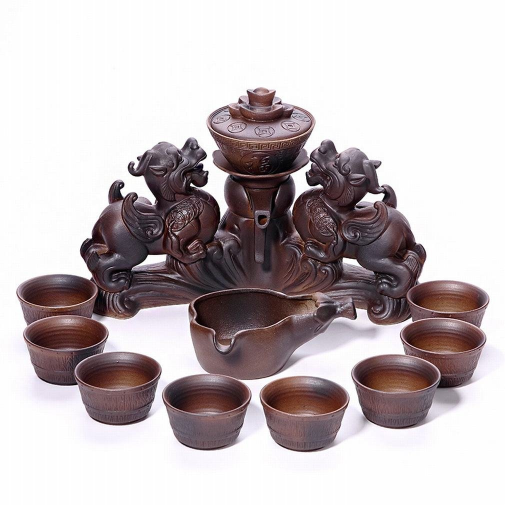 L Y Automatische Tee-Set Automatische Tee Maker Keramik Geschenk Kung Fu Tee Set Geschenkbox