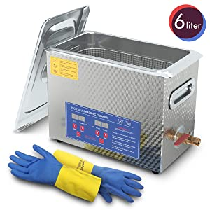 Ultrasonic Cleaner 6L Professional Ultrasonic Carburetor Cleaner with Heater and Timer Efficiently Cleaning for Carbs Injectors Jewelry Brass and Guns with Cleaning Basket DAREFLOW