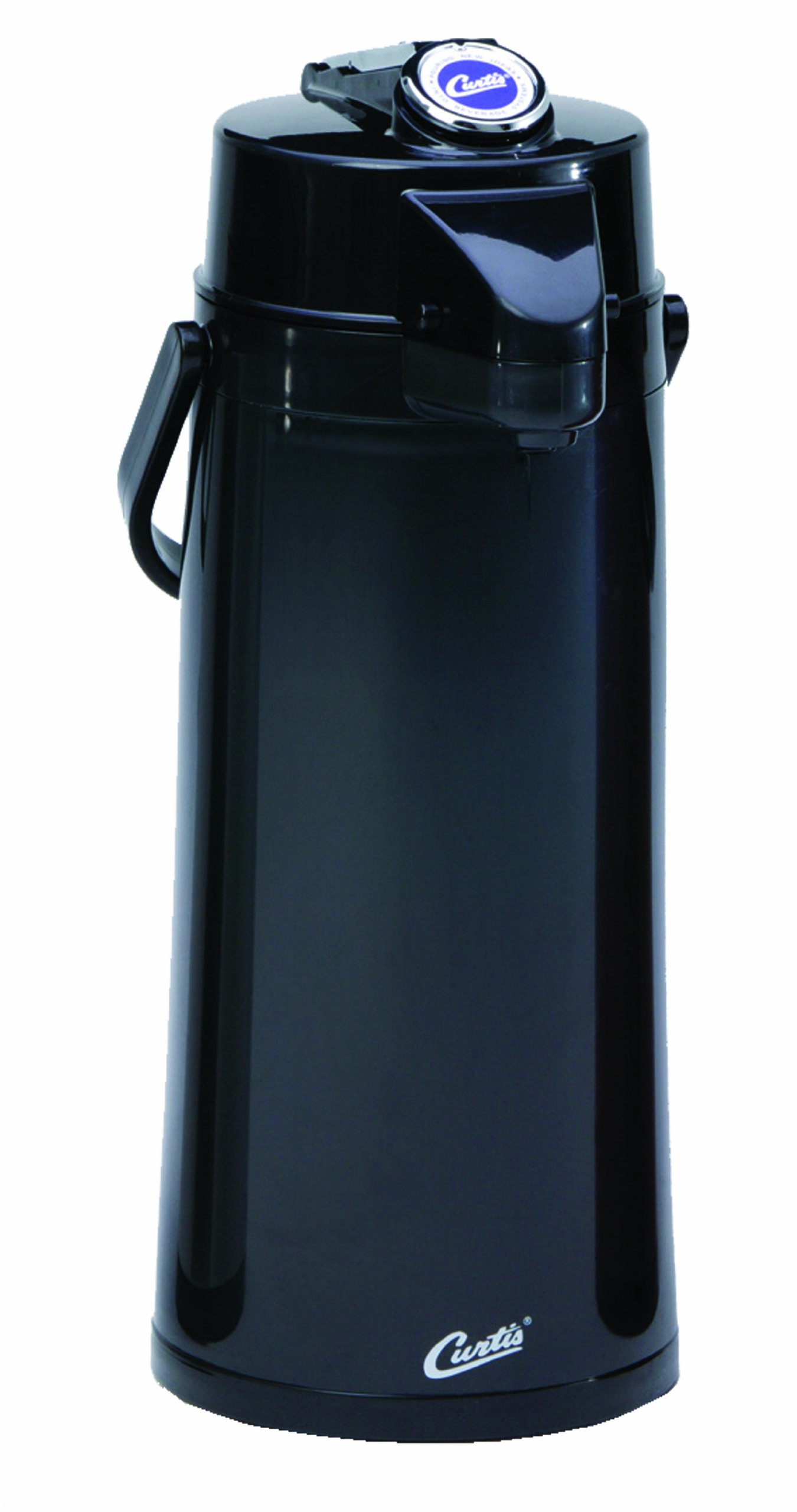Wilbur Curtis Thermal Dispenser Air Pot, 2.2L Black Body Glass Liner Lever Pump - Commercial Airpot Pourpot Beverage Dispenser - TLXA2203G000 (Each) by Wilbur Curtis