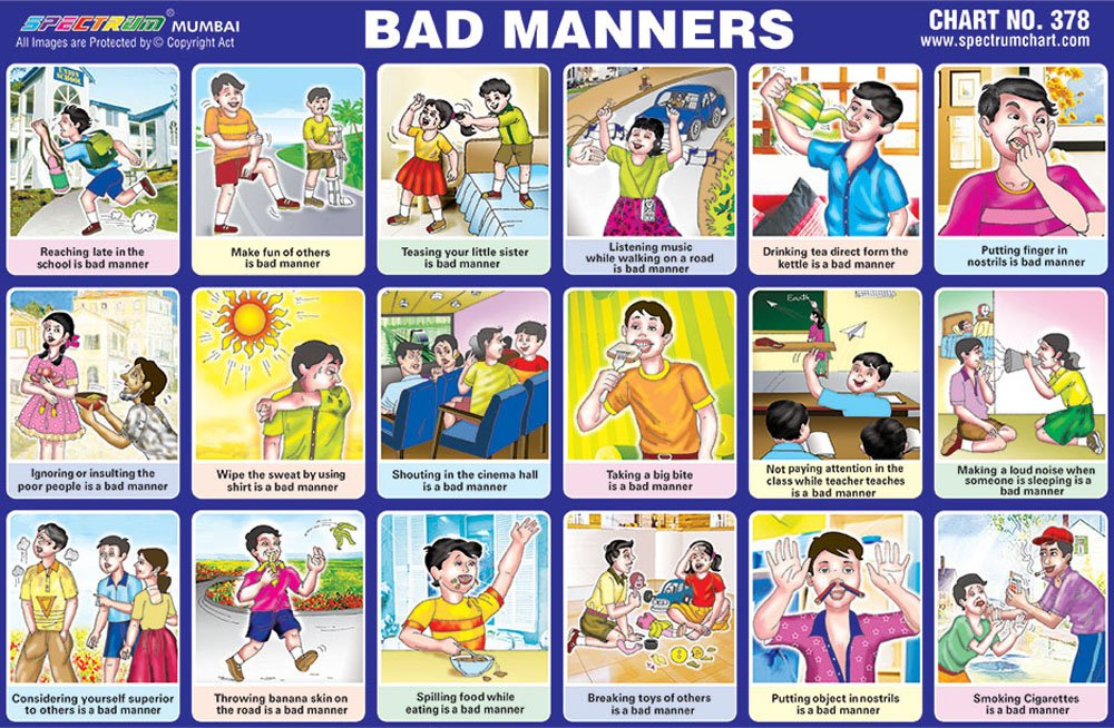 25 X Spectrum Pre - School Kids Learning Bad Manners